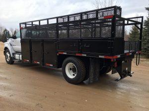Custom fabricated truck by Rice Lake Fabricating