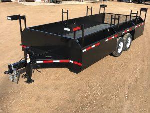 Custom steel trailer by Rice Lake Fabricating