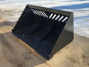 Custom fabricated bucket for a truck/tracktor by Rice Lake Fabricating