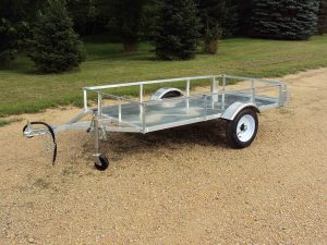 Aluminum trailer by Rice Lake Fabricating