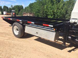 Custom trailer by Rice Lake Fabricating