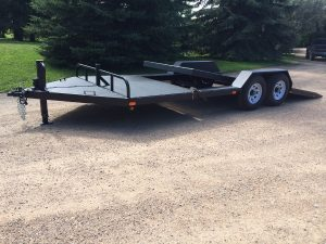 steel trailer fabricated by by Rice Lake Fabricating