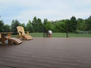 Custom deck and rails by Rice Lake Fabricating