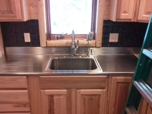 Stainless steel counter top by Rice Lake Fabricating