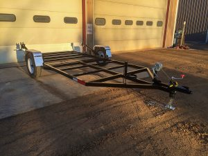 Custom fabricated and welded trailer by Rice Lake Fabricating