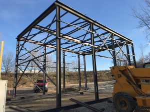 Custom steel frame by Rice Lake Fabricating